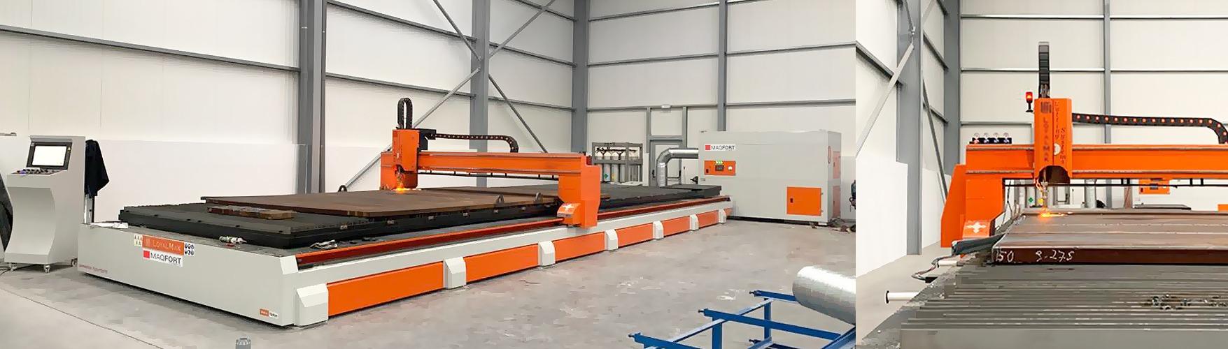 Máquina de corte plasma de chapa CNC – 12 metros x 3 metros