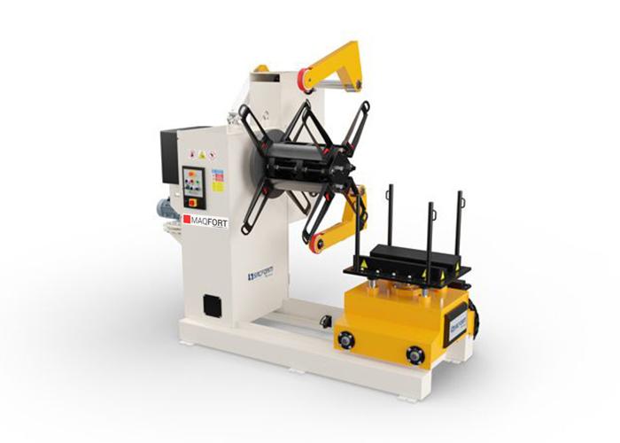 Desenroladores de chapa com sistema de controlo hidraulico