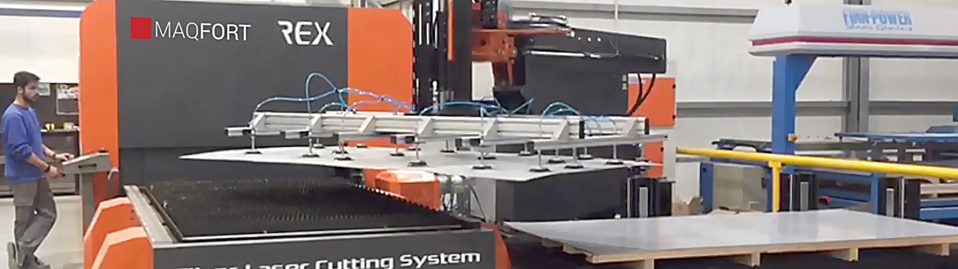 Máquina de Corte laser Nukon para tubo e chapa - modelo REX