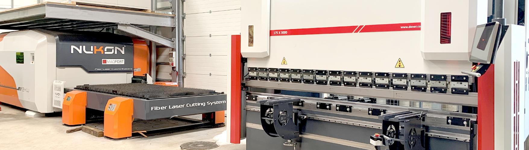Máquina Corte Chapa Laser 2kW e Quinadeira CNC